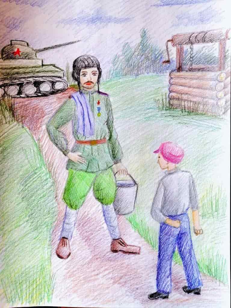 Рисунки к рассказу танкиста